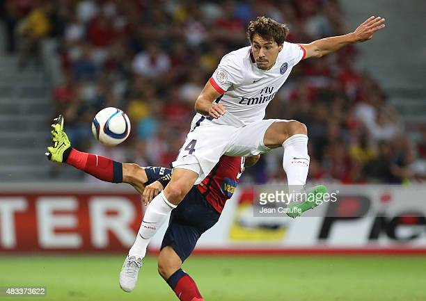 Benjamin Stambouli of PSG in action during the French Ligue 1 match between Lille OSC and Paris SaintGermain at Grand Stade Pierre Mauroy on August 7...