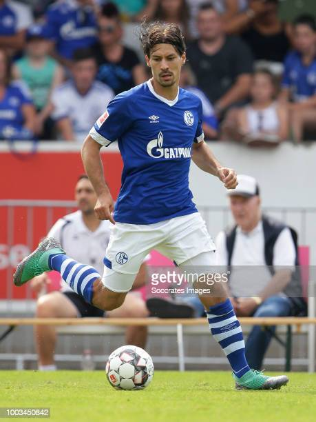 Benjamin Stambouli of Schalke 04 during the Club Friendly match between Schalke 04 v Schwarz Weiss Essen at the Uhlenkrugstadion on July 21 2018 in...