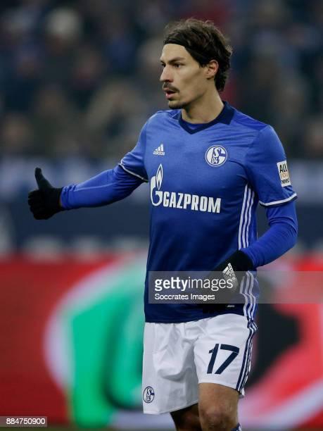 Benjamin Stambouli of Schalke 04 during the German Bundesliga match between Schalke 04 v 1 FC Koln at the Veltins Arena on December 2 2017 in...