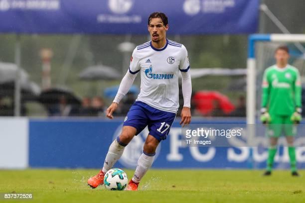 Benjamin Stambouli of Schalke controls the ball during the preseason friendly match between FC Schalke 04 and Neftchi Baku on July 26 2017 in...