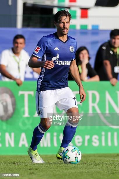 Benjamin Stambouli of Schalke controls the ball during the preseason friendly match between FC Schalke 04 and SD Eibar on July 30 2017 in Mittersill...
