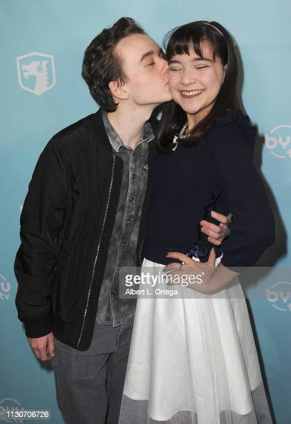 Benjamin Stockham and Chloe Noelle arrive for the Los Angeles Special Screening Of BYUtv's New Series Dwight In Shining Armor held at Pacific...