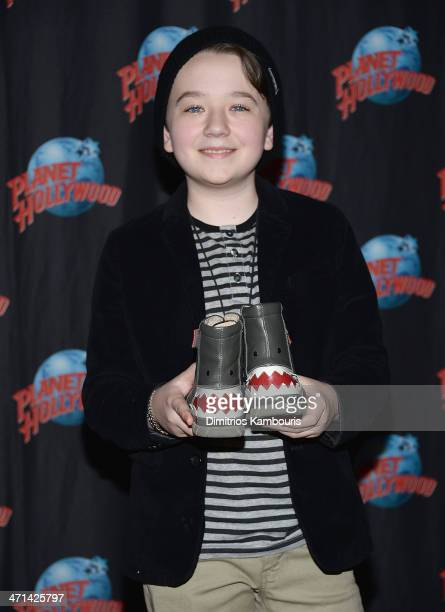 Benjamin Stockham visits Planet Hollywood at Planet Hollywood Times Square on February 21 2014 in New York City