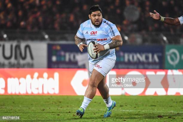 Benjamin Tameifuna of Racing 92 during the French Top 14 match between Racing 92 and Brive on February 18 2017 in Paris France