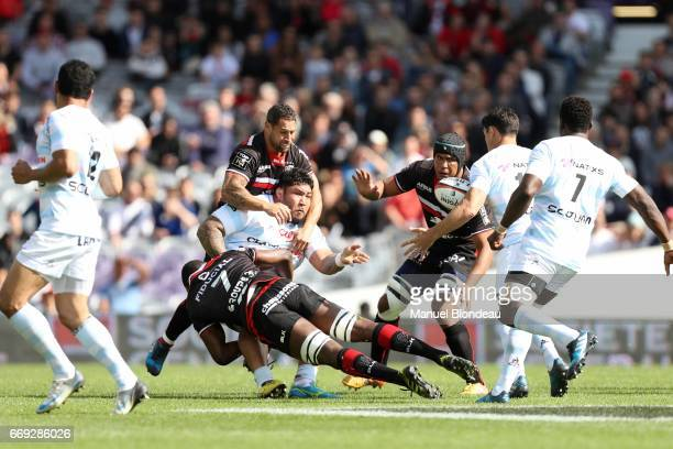 Benjamin Tameifuna of Racing 92 during the Top 14 match between Stade Toulousain and Racing 92 on April 16 2017 in Toulouse France