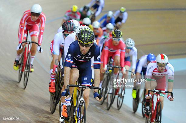 Benjamin Thomas during the Track Cycling European Championship at Velodrome National on October 21 2016 in Saint Quentin en Yvelines France