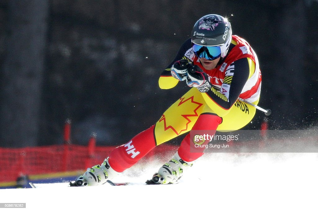 Benjamin Thomsen of Canada competes in the Men's Downhill Finals during the 2016 Audi FIS Ski World Cup at the Jeongseon Alpine Centre on February 6, 2016 in Jeongseon-gun, South Korea.