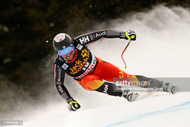 Benjamin Thomsen of Canada in action during the Audi FIS Alpine Ski World Cup Men's Downhill on December 27, 2019 in Bormio Italy.