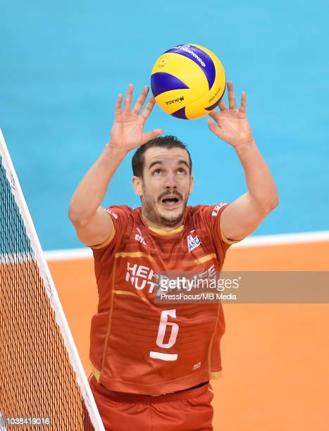 Benjamin Toniutti of France in action during FIVB World Championships match between France and Argentina on September 23 2018 in Varna Bulgaria
