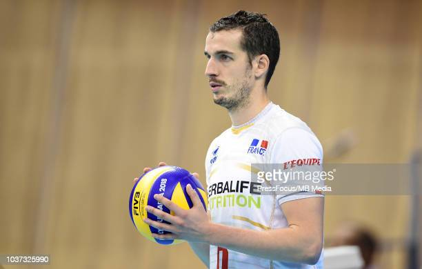 Benjamin Toniutti of France reacts during FIVB World Championships match between Serbia and France on September 21 2018 in Varna Bulgaria