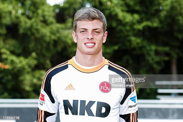 Benjamin Uphoff poses during the FC Nuernberg team presentation at Sportpark Valznerweiher on July 9 2013 in Nuremberg Germany
