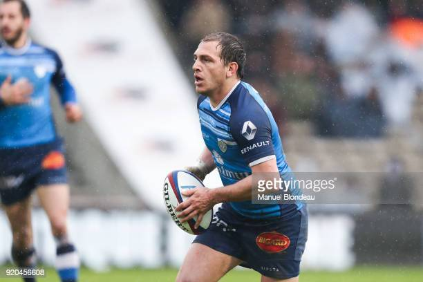 Benjamin Urdapilleta of Castres during the French Top 14 match between Bordeaux Begles and Castres at Stade ChabanDelmas on February 18 2018 in...