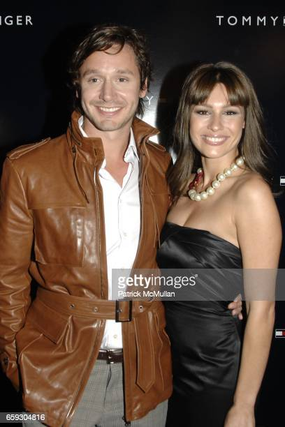 Benjamin Vicuna and Carolina Pampita Ardohain attend TOMMY HILFIGER Spring/Summer 2010 Collection at The Tents on September 17 2009 in New York City
