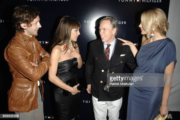 Benjamin Vicuna Carolina Pampita Ardohain Tommy Hilfiger and Dee Ocleppo attend TOMMY HILFIGER Spring/Summer 2010 Collection at The Tents on...
