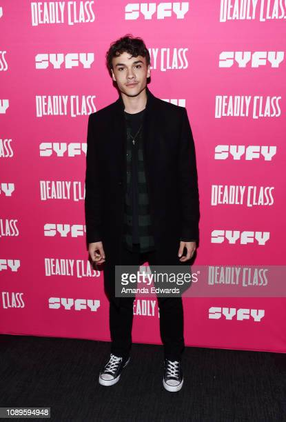 """Benjamin Wadsworth arrives at SYFY's new series """"Deadly Class"""" premiere screening at The Roxy Theatre on January 03, 2019 in West Hollywood,..."""