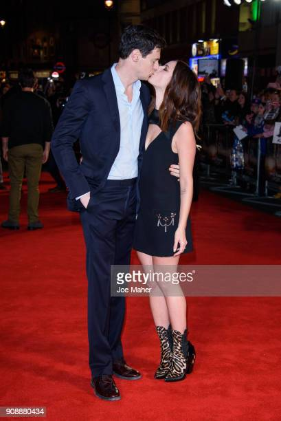 Benjamin Walker and Kaya Scodelario attend the UK fan screening of 'Maze Runner The Death Cure' at Vue West End on January 22 2018 in London England
