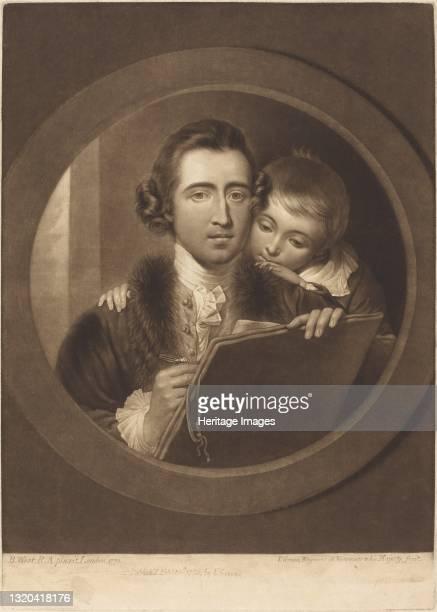 Benjamin West, Esqr R.A. And His Son RI West, 1773. Artist Valentine Green.