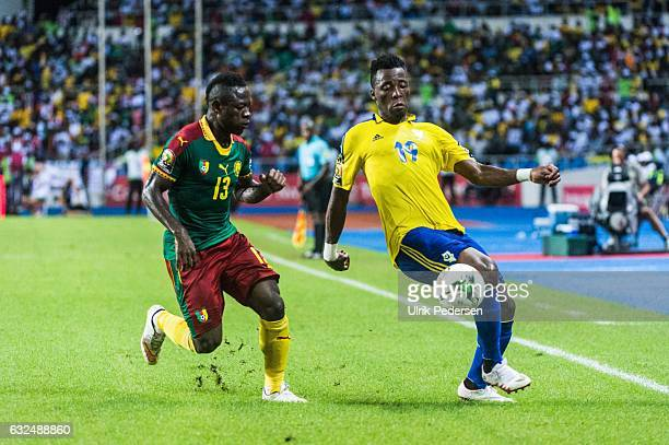 Benjamin Ze Ondo of Gabon during the African Nations Cup match between Cameroon and Gabon at Stade de L'Amitie on January 22, 2017 in Libreville,...