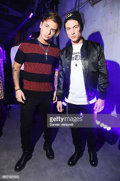 Benji and Fede attend the Dsquared2 after show party during Milan Men's Fashion Week Fall/Winter 2017/18 on January 15 2017 in Milan Italy