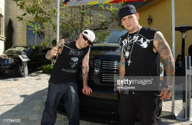 Benji and Joel Madden with Dodge RAM SRT10 Truck during Chrysler SRT Dodge SRT and MOPAR Vehicles at 'House of Hype' Day Two at Private Residence in...