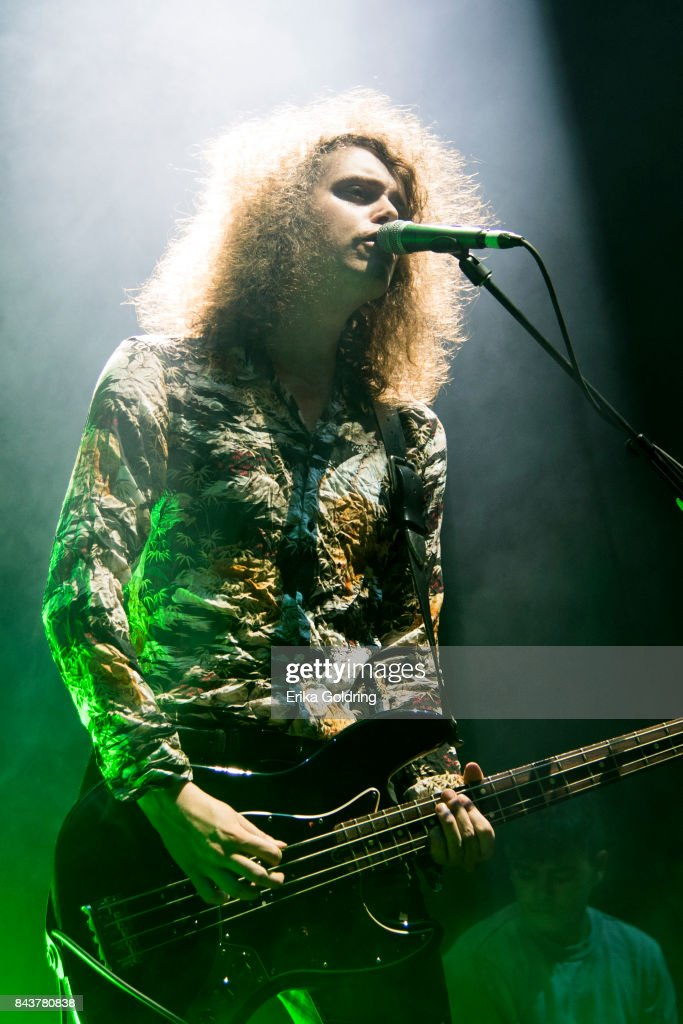 Benji Blakeway of Catfish and the Bottlemen performs at The Amphitheater at the Wharf on September 6, 2017 in Orange Beach, Alabama.