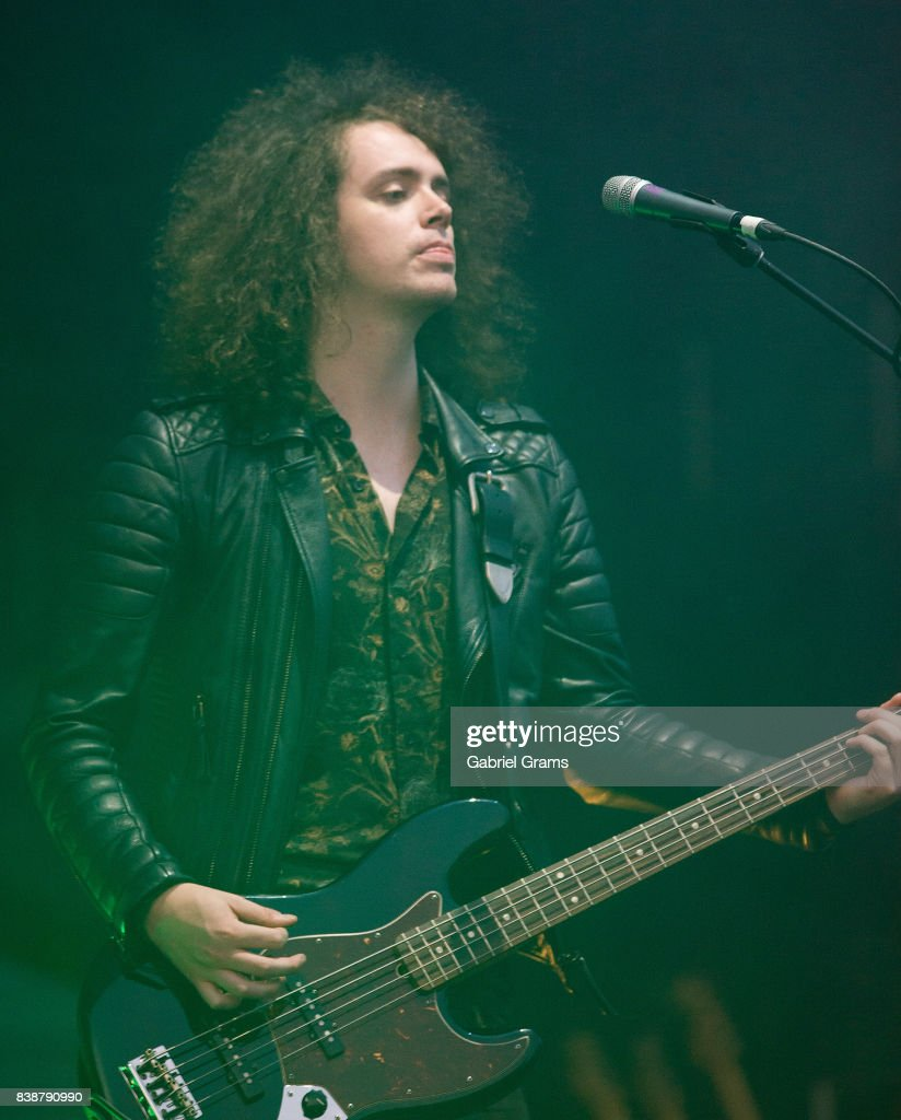 Benji Blakeway of Catfish and the Bottlemen performs during the 2017 'Radio Revolution' Tour at Wrigley Field on August 24, 2017 in Chicago, Illinois.