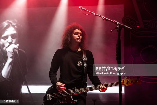 Benji Blakeway of Catfish and the Bottlemen performs on stage at Motorpoint Arena on May 05, 2019 in Cardiff, Wales.