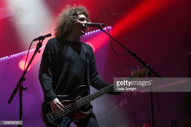 Benji Blakeway of Catfish and the Bottlemen performs on the Main Stage during Kendal Calling 2018 at Lowther Deer Park on July 27, 2018 in Kendal,...