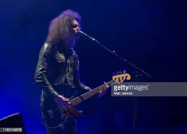 Benji Blakeway of Catfish and the Bottlemen performs on the Amphitheatre stage during Splendour In The Grass 2019 on July 20, 2019 in Byron Bay,...