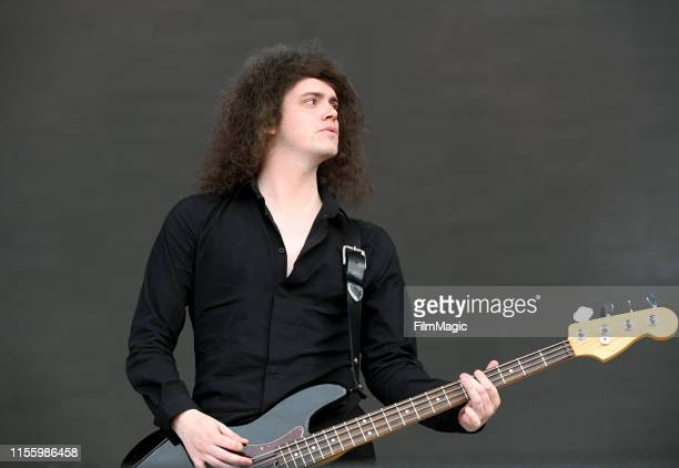 Benji Blakeway of Catfish And The Bottlemen performs on What Stage during the 2019 Bonnaroo Arts And Music Festival on June 14, 2019 in Manchester,...