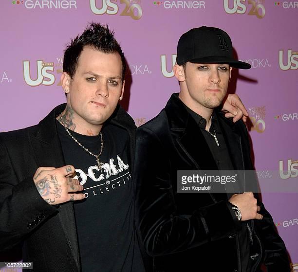 "Benji Madden and brother Joel Madden of ""Good Charlotte"""