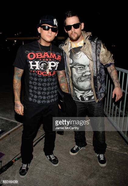 Benji Madden and Joel Madden attend the Diesel xXx Rock Roll Circus at Pier 3 on October 11 2008 in Brooklyn New York