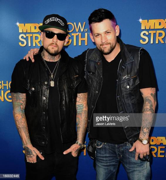 Benji Madden and Joel Madden attend the MDA Labor Day Telethon at CBS Studios on August 8 2012 in Los Angeles California