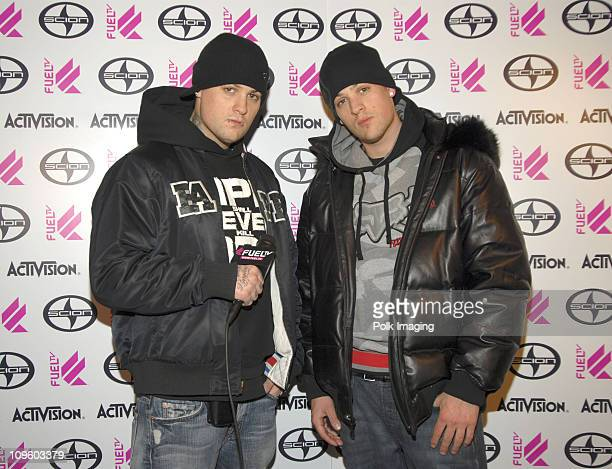 Benji Madden and Joel Madden of Good Charlotte at Fuel TV Chalet