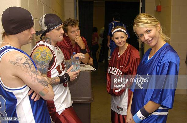 Benji Madden and Joel Madden of Good Charlotte Lance Bass Beverley Mitchell and Cameron Diaz