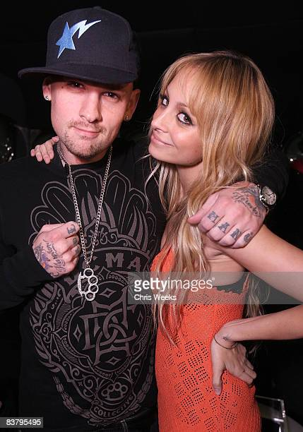 HOLLYWOOD NOVEMBER 22 Benji Madden and Nicole Richie attend the Good Charlotte release party of their Greatest Hits Remix album at the ECCO Ultra...