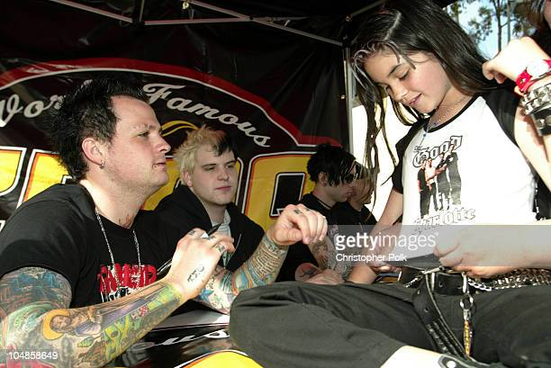 Benji Madden from the band Good Charlotte during Civic Tour and KROQ Presents Good Charlotte Civic Si Giveaway Event at University of California...