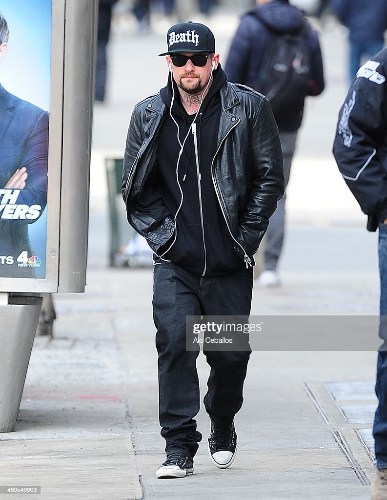 Benji Madden is seen in the East Village on March 25, 2014 in New York City.