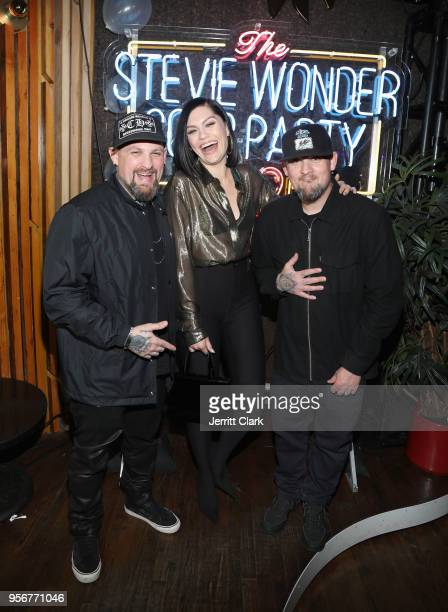Benji Madden Jessie J and Joel Madden attend The Stevie Wonder Song Party at The Peppermint Club on May 9 2018 in Los Angeles California