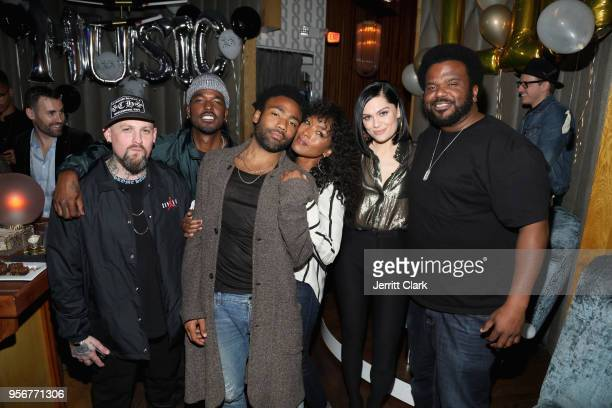 Benji Madden Luke James Donald Glover Angela Bassett Jessie J and Craig Robinson attend The Stevie Wonder Song Party at The Peppermint Club on May 9...