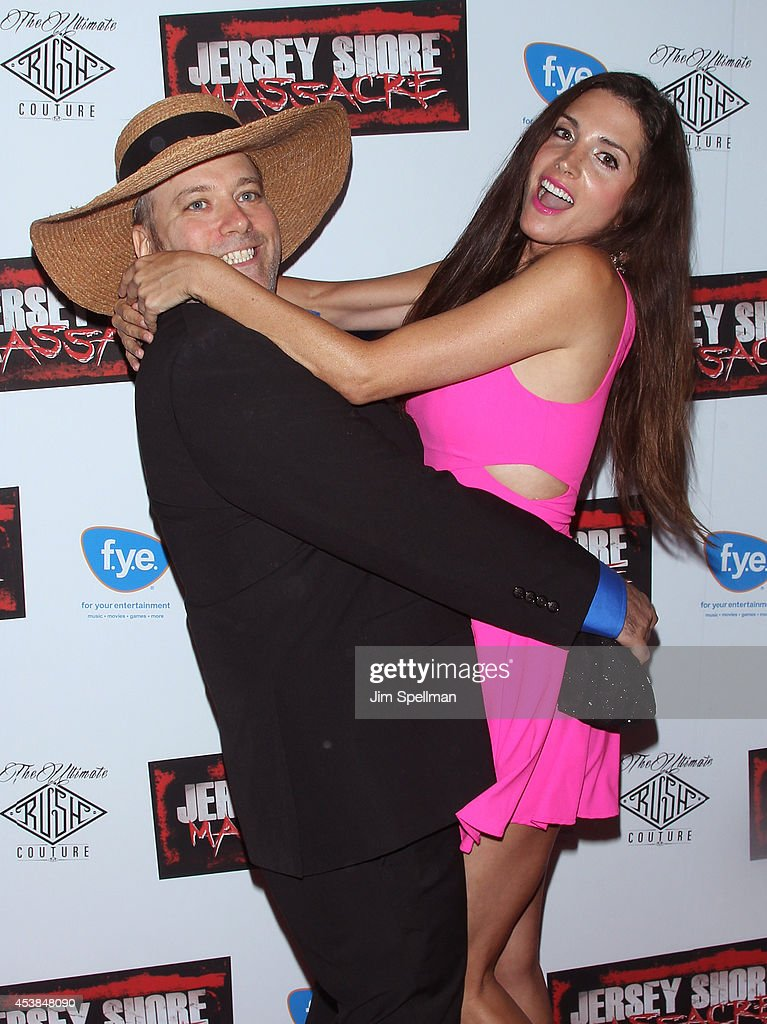 Benjy Bronk and Elisa Jordana attend the 'Jersey Shore Massacre' New York Premiere at AMC Lincoln Square Theater on August 19, 2014 in New York City.