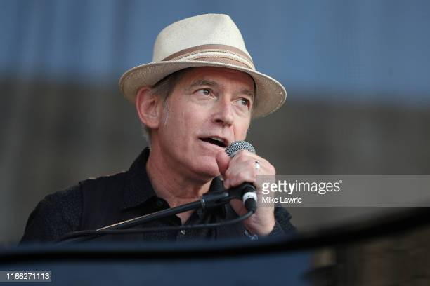 """Benmont Tench performs during the """"If I Had A Song"""" tribute set during day three of the 2019 Newport Folk Festival at Fort Adams State Park on July..."""
