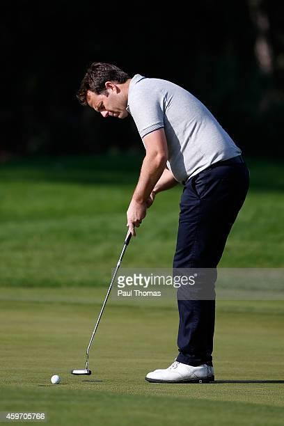 Benn Barham of PGolfCoaching@Pedham putts during day one of the Titleist PGA PlayOffs at Antalya Golf Club on November 29 2014 in Antalya Turkey