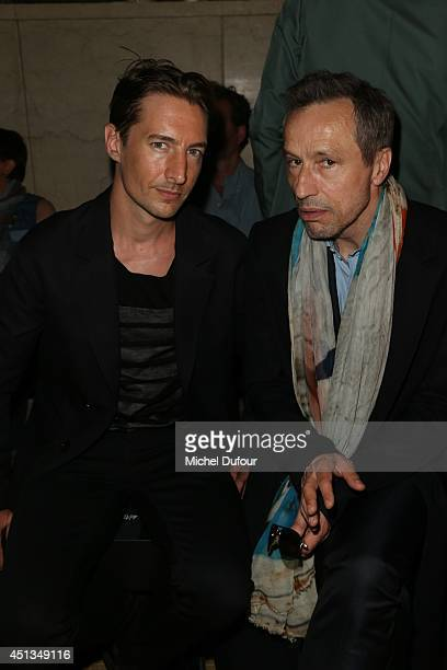 Benn Northover and Michael Wincott attend the Cerruti show as part of the Paris Fashion Week Menswear Spring/Summer 2015 on June 27 2014 in Paris...