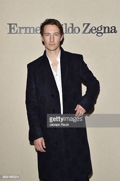 Benn Northover attends the Ermenegildo Zegna show during Milan Men's Fashion Week Fall/Winter 2016/17 on January 16 2016 in Milan Italy
