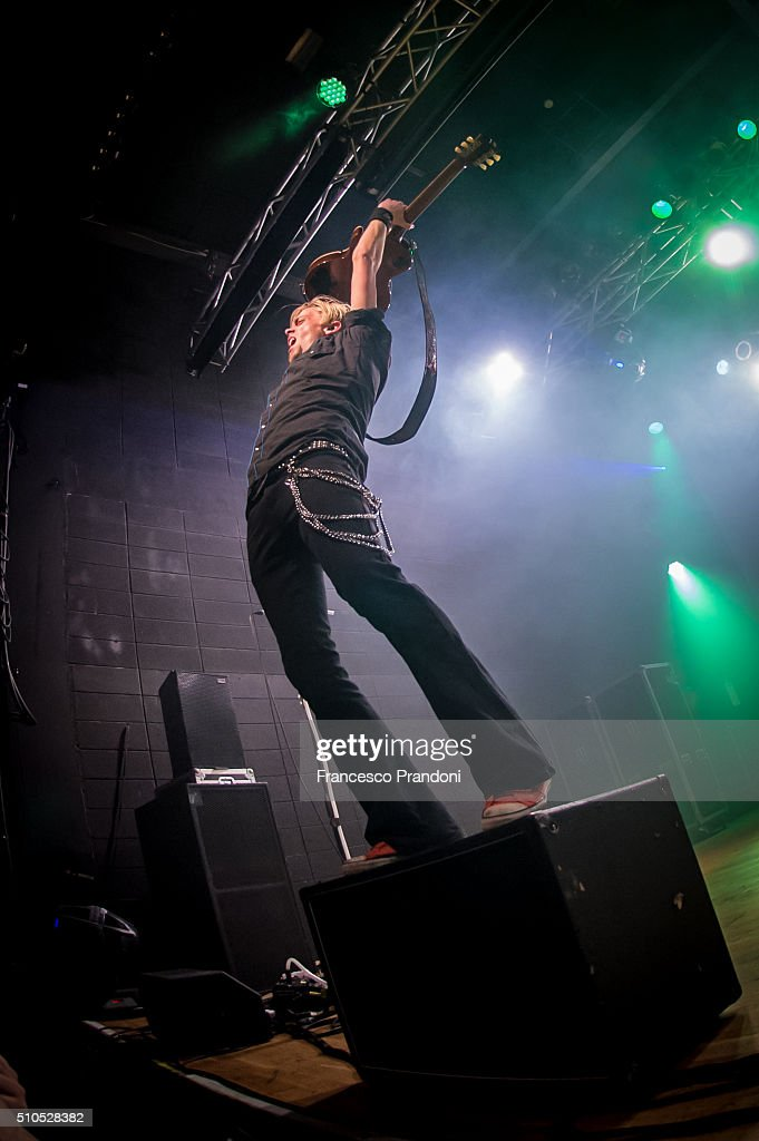 Benn Wells of Black Stone Cherry Perform on February 15, 2016 in Milan, Italy.