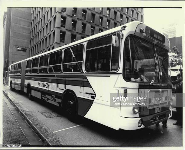 SRA benndy bus painted up for a promotion for the XPT unveiled today November 30 1984