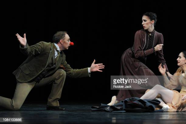 Bennet Gartside as KulyginItziar Mendizabal as Olga and Marianela Nunez as Masha in Kenneth MacMillan's Winter Dreams at The Royal Opera House on...