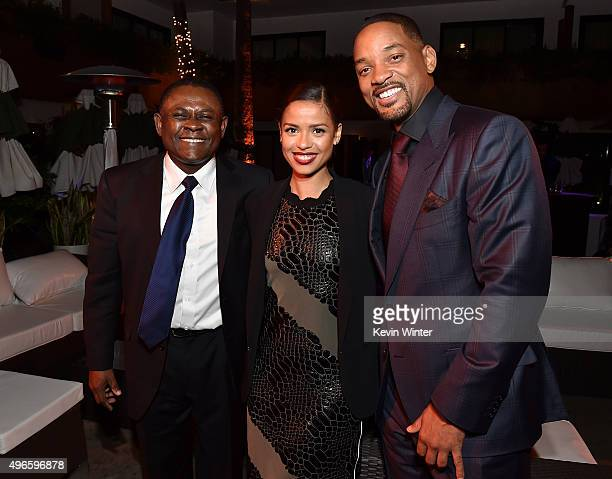 Bennet Omalu Gugu MbathaRawActress and actor Will Smith attend the after party for the Centerpiece Gala Premiere of Columbia Pictures' Concussion...
