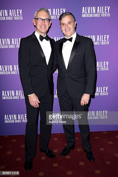 Bennett Rink and David Bowen attend Alvin Ailey American Dance Theater Opening Night Gala Benefit 'An Evening of Ailey and Jazz' at New York City...